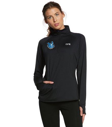 Viking Women's Quarter Zip - TYR Women's Alliance 1/4 Zip Pullover Warm Up Jacket