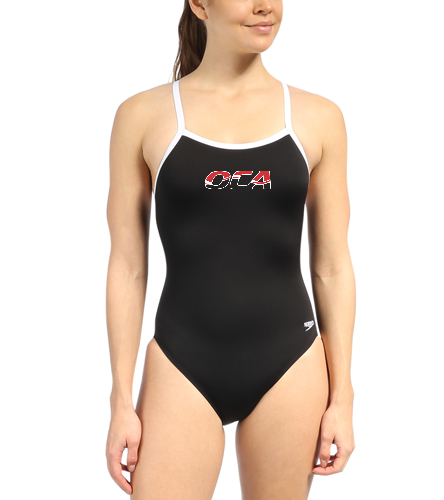 Women Team Suit - Speedo Solid Endurance + Flyback Training One Piece Swimsuit