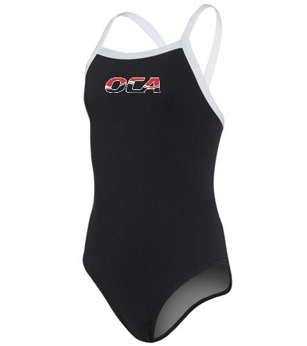 Girls Team Suit-2 - Speedo Girls' Solid Endurance + Flyback Training Swimsuit