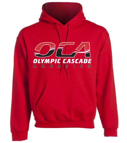 Adult sweatshirt-red - SwimOutlet Heavy Blend Unisex Adult Hooded Sweatshirt