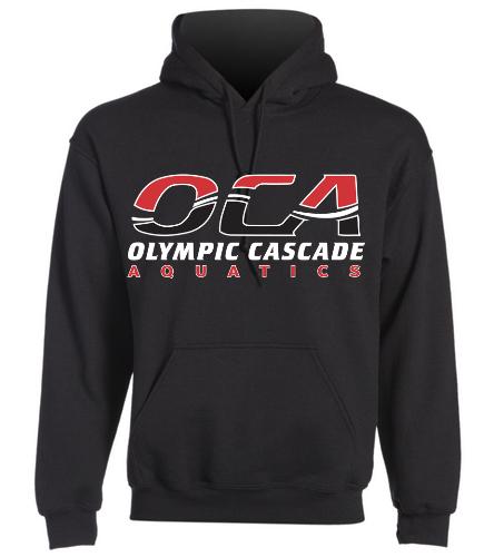 Adult sweatshirt-black - SwimOutlet Heavy Blend Unisex Adult Hooded Sweatshirt