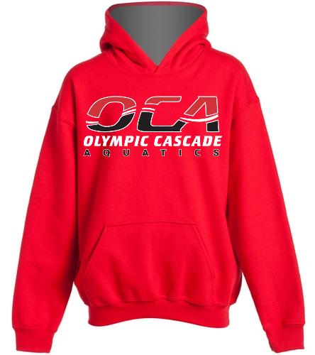 Youth Sweatshirt-red - SwimOutlet Youth Heavy Blend Hooded Sweatshirt
