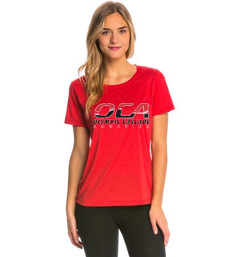 OCA Red Women's Tech Tee - SwimOutlet Women's Tech Tee