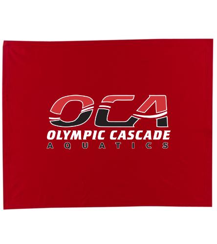 OCA red blanket - SwimOutlet Stadium Blanket