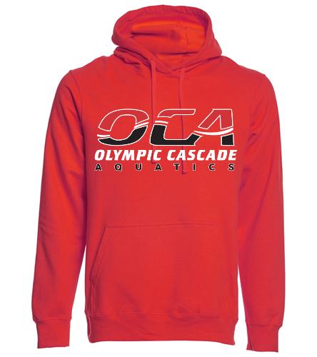 OCA Red - SwimOutlet Adult Fan Favorite Fleece Pullover Hooded Sweatshirt