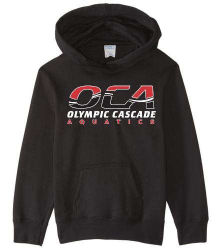 OCA Black  - SwimOutlet Youth Fan Favorite Fleece Pullover Hooded Sweatshirt