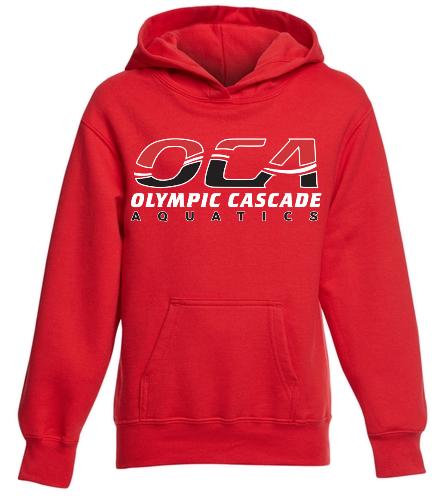 OCA Red - SwimOutlet Youth Fan Favorite Fleece Pullover Hooded Sweatshirt
