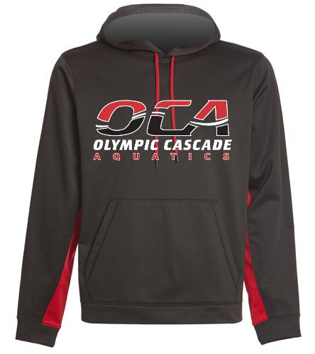 OCA colorblock hoodie - SwimOutlet Sport-Wick® Fleece Colorblock Hooded Pullover