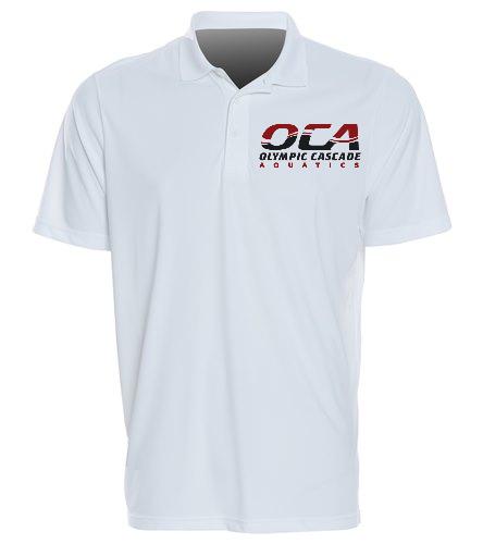 OCA Men's white polo-2 - SwimOutlet Sport-Tek®PosiCharge® Competitor™Polo