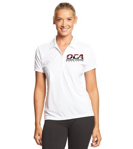 OCA women's white polo-2 - SwimOutlet Sport-Tek® Women's PosiCharge® Competitor™ Polo