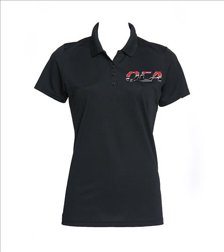 OCA women's black polo-4 - SwimOutlet Women's Dry Zone® UV Micro-Mesh Polo
