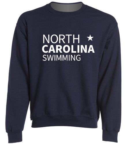 NCS Navy Sweat Shirt - SwimOutlet Heavy Blend Unisex Adult Crewneck Sweatshirt