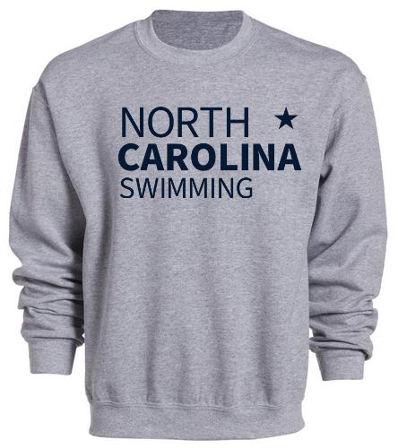 NCS Grey Sweat Shirt - SwimOutlet Heavy Blend Unisex Adult Crewneck Sweatshirt