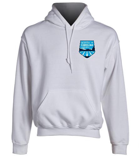 NCS White Hooded Sweat Shirt - SwimOutlet Heavy Blend Unisex Adult Hooded Sweatshirt
