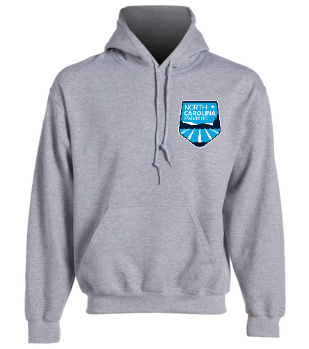 NCS Gray Hooded Sweat Shirt - SwimOutlet Heavy Blend Unisex Adult Hooded Sweatshirt