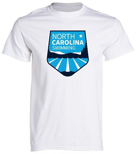 NCS White T Shirt - SwimOutlet Unisex Cotton Crew Neck T-Shirt