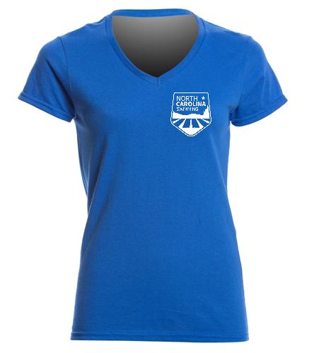 NCS Royal V Neck T Shirt - Women's - SwimOutlet Women's Cotton V-Neck T-Shirt