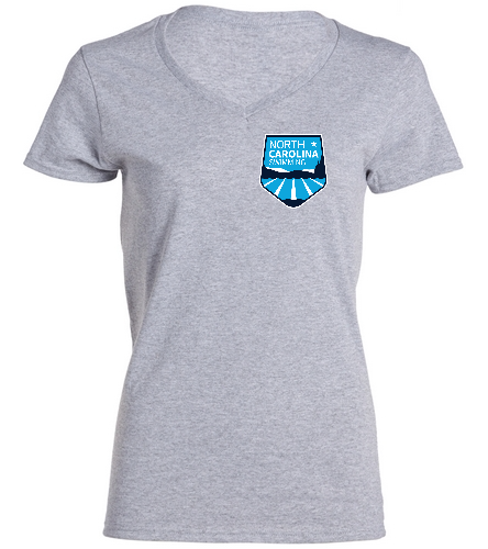NCS Grey V Neck T Shirt - Women's - SwimOutlet Women's Cotton V-Neck T-Shirt