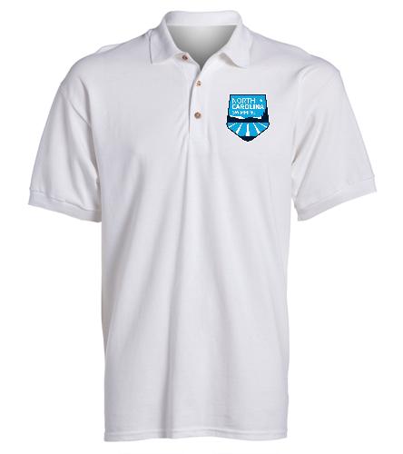 NCS White Sport Shirt  - SwimOutlet Ultra Cotton Adult Men's Pique Sport Shirt