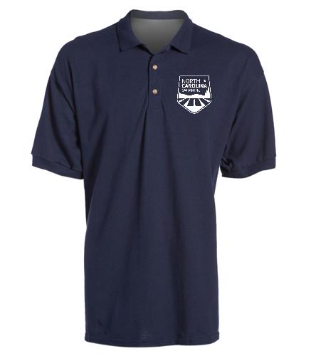 NCS Navy Sport Shirt - SwimOutlet Ultra Cotton Adult Men's Pique Sport Shirt