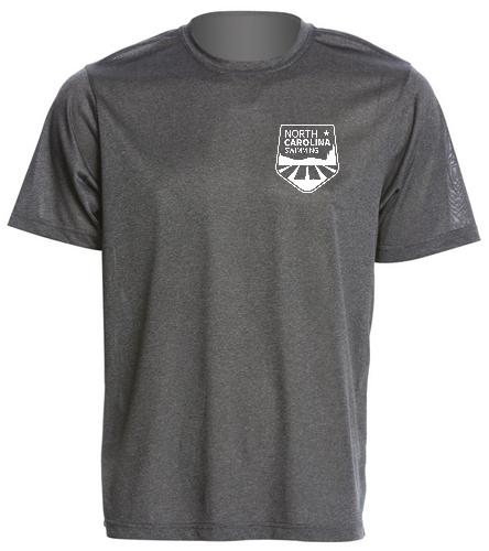 NCS Grey Heather Tech T Shirt - SwimOutlet Men's Tech Tee