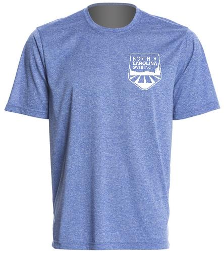 NCS Royal Blue Heather Tech Shirt - SwimOutlet Men's Tech Tee