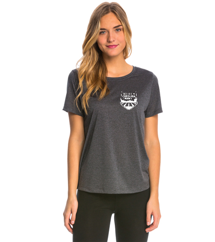 NCS Grey Heather Tech T Shirt - Women's - SwimOutlet Women's Tech Tee