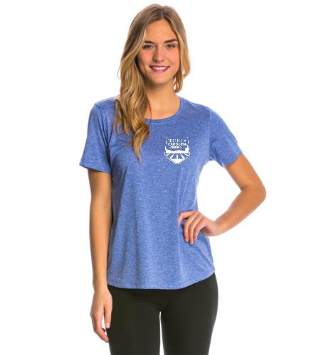 NCS Royal Blue Heather Tech T Shirt - Women's - SwimOutlet Women's Tech Tee
