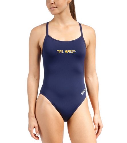 TRIW  - Arena Women's Mast MaxLife Thin Strap Open Racer Back One Piece Swimsuit