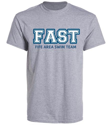 FAST Grey T-Shirt  - SwimOutlet Unisex Cotton Crew Neck T-Shirt