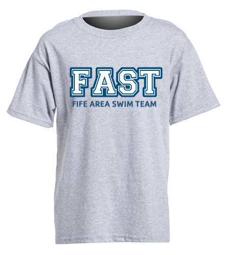 FAST Grey T-Shirt Youth  - SwimOutlet Youth Cotton Crew Neck T-Shirt