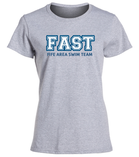 FAST Grey T-Shirt Women's  - SwimOutlet Women's Cotton Missy Fit T-Shirt