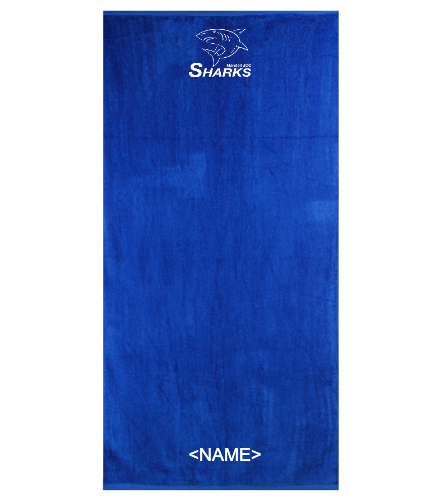 New Sharks Towel - Royal Comfort Terry Velour Beach Towel 32 X 64
