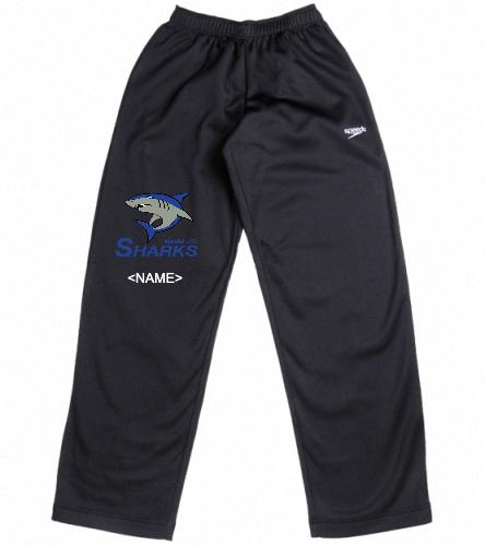 Youth Warmup Pants Black - Speedo Streamline Youth Warm Up Pant