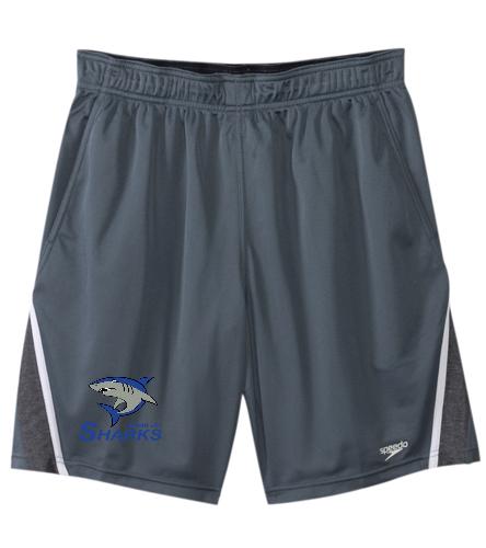 Sharks Men/Boys Team Shorts (Speedo) - Speedo Men's Splice Team Short
