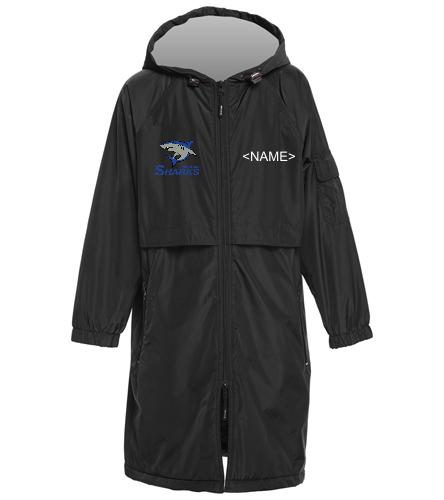 Mandell JCC Sharks - Youth - Sporti Comfort Fleece-Lined Swim Parka Youth