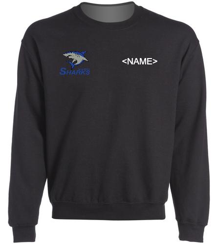 Heavy Blend Sweatshirt Black - SwimOutlet Heavy Blend Unisex Adult Crewneck Sweatshirt