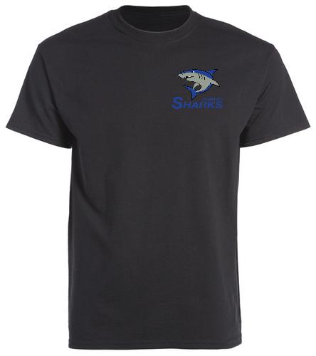 Sharks Men Crew Neck T-Shirt - SwimOutlet Men's Cotton Crew Neck T-Shirt
