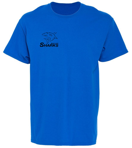 Cotton Crew Youth Blue - SwimOutlet Youth Cotton Crew Neck T-Shirt