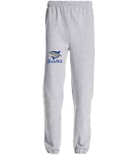 Sharks Narrow Bottom Sweatpants - SwimOutlet Heavy Blend Unisex Adult Sweatpant