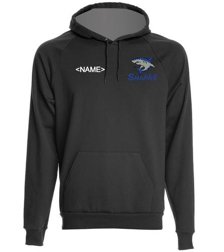 Sharks California Fleece Pullover Hoodie - SwimOutlet Unisex California Fleece Pullover Hoodie