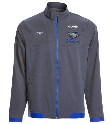 Sharks Men/Boys Warmup Jacket - Speedo Men's Tech Warm Up Jacket