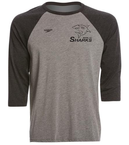 Sharks Unisex Baseball T-Shirt (Speedo) - Speedo Unisex Baseball Tee Shirt