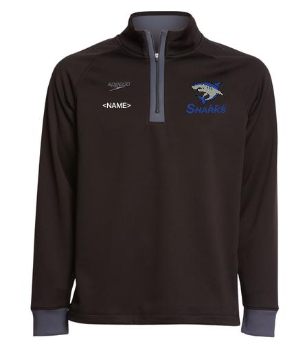 Sharks Unisex 3/4 Zip - Speedo Unisex 3/4 Zip Sweatshirt