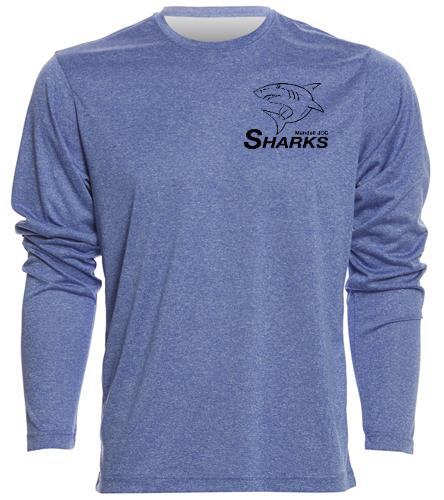 Sharks Men Long Sleeve Tech Shirt - SwimOutlet Men's Long Sleeve Tech T Shirt
