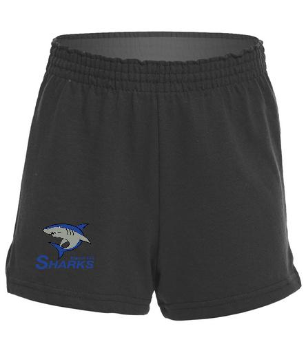 Sharks Girls Fitted Jersey Short - SwimOutlet Custom Girls' Fitted Jersey Short