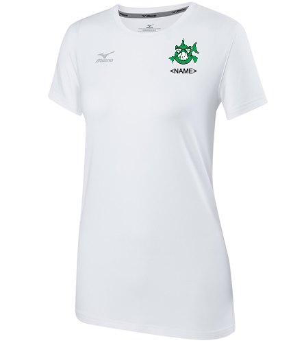 Team Shirt White - Mizuno Women's Volleyball Attack Tee Shirt 2.0