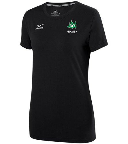 Girls Team Shirt Black - Mizuno Girls' Youth Volleyball Attack Tee Shirt 2.0 (Big Kid)