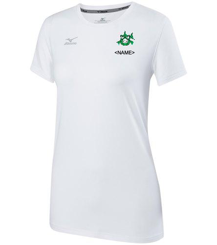 Girls Team Shirt White - Mizuno Girls' Youth Volleyball Attack Tee Shirt 2.0 (Big Kid)