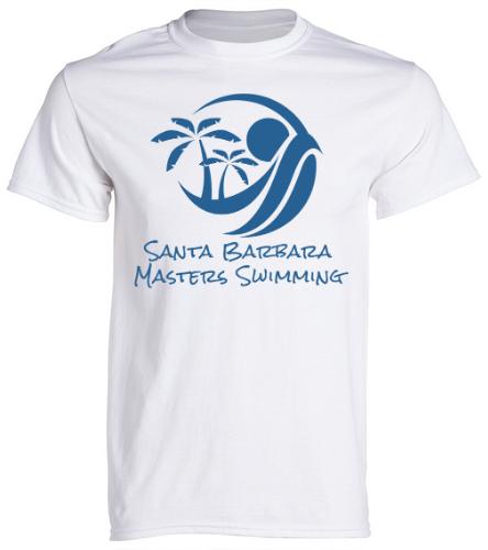 SBMS White - SwimOutlet Unisex Cotton Crew Neck T-Shirt